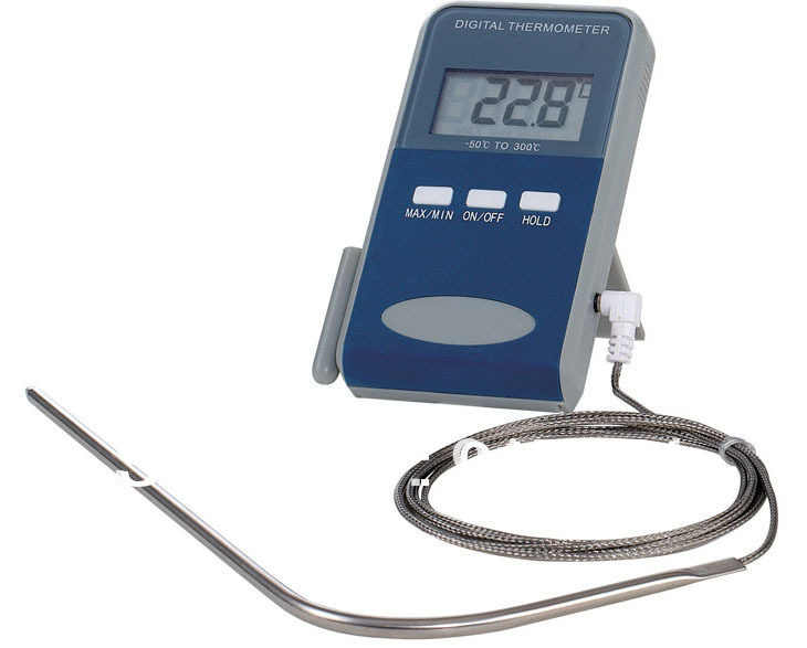 Digital food Thermometer sensor probe,Grill/BBQ/Oven Thermometer,kithen cooking thermometer,with 1.3m cable - Let-It-Be store