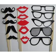 Buy 15Pcs/set New Fashion Photo Booth Props Moustache Lips Glasses Stick Party Birthday Wedding for $1.39 in AliExpress store