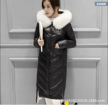 2015 new European winter jacket women's long standing Korean cultivating a thickened knee extension