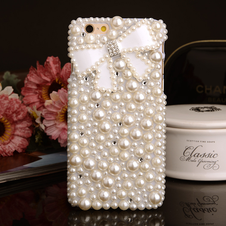 FreeShipping!Customize Hotselling PC Case for Sony Xperia Z4/Z4 MINI Pearls Bow Shell Skins Cover for Sony Xperia C3/C4/Z3 MINI(China (Mainland))