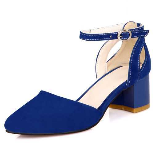 Summer Sandals High Quality Closed Toe Sandals Fashion Cutouts Ankle Strap Med Square Heeled Shoes Sweet Cute Female Sandals(China (Mainland))