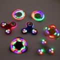Funny LED Light Hand Finger Spinner Fidget Plastic EDC Hand Spinner For Autism and ADHD Relief