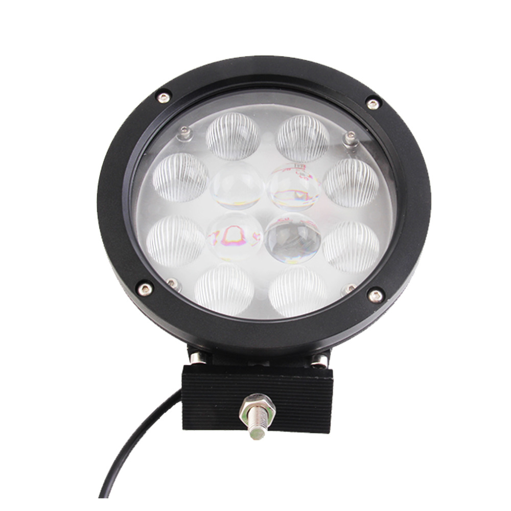 Фотография New Round 12V 60W 15 LED Work Light Spot Beam 4WD Truck Lamp Off-road Driving spotlight / astigmatism