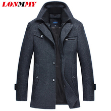M-4XL winter jacket men Woolen coat men Blends Outdoors jaqueta masculina trench coat casual windbreaker men clothes casacos New(China (Mainland))