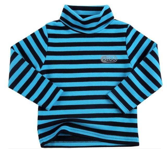 Fall Cheap Kids Long Sleeves T Shirts Turtleneck Collar