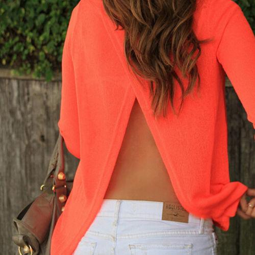Блузка с открытой спиной