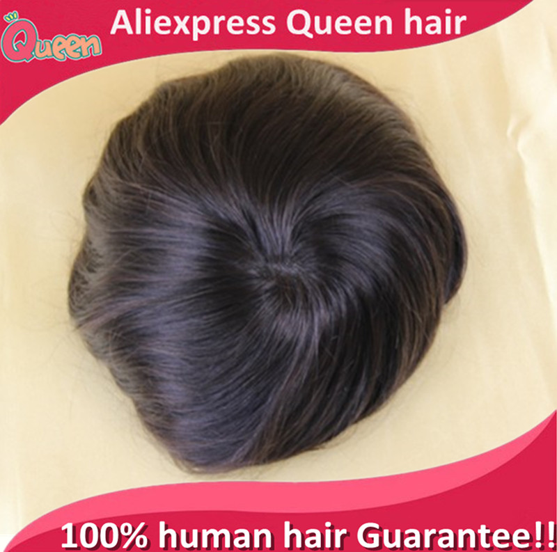 Super thin skin and super durable 6 inches natural wave human remy hair toupee for men(China (Mainland))