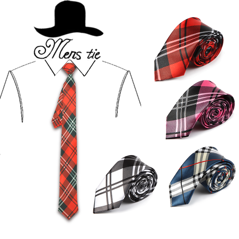 5 cm width 4 Colors Scottish Plaid striped Scottish font b tartan b font pattern men