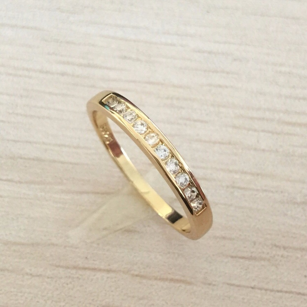 Hot Sale Wedding Bridal Band CZ Diamond Ring Gifts for Women Accessories Fashion Brand rose gold Ulove free shipping(China (Mainland))
