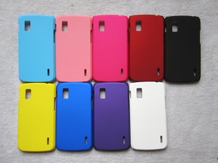 Hard PC case cover for LG Google Nexus 4 E960 smartphone, mobilephone case, cellphone case + free screen protector free shipping