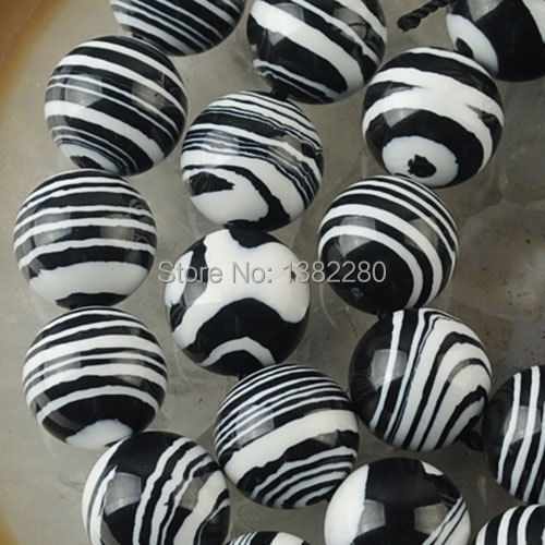Free shipping Sale On Fashi ! Whole 6-10mm Black White Turkey Turquoise Loose Beads 15 inches 2pc/lot jewelry JT5327 diy(China (Mainland))
