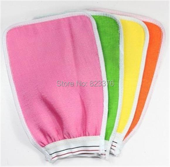 DHL Freeshipping 200pcs Shower Towel Magic Peeling Glove Exfoliating Bath Glove(China (Mainland))