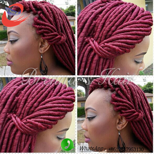 Crochet Goddess Braids : Free Shipping Dreadlocks Faux Locks Hair Crochet Braids Extensions ...