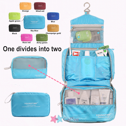 multicolor men Shaving Bag women Travel Toiletry Kits Camping bags Deluxe Large Hanging Hook Wash gargle cosmetic bag - Caffee E-shop store