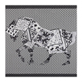 LESIDA 2017 New Horse Pattern Twilly Silk Scarves For Women Echarpe Hiver Femme Hijab Poncho