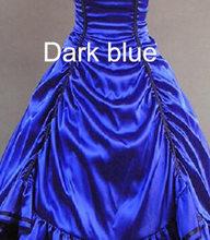 Top Quality Custom Made Size Girls Long Gothic Lolita Dress And Cloak Women Cosplay Witch Vestidos Lolita 23(China)