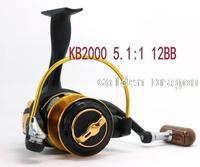 Катушка для удочки 5.1:1 12BB KB1000 KB2000 KB3000 KB4000 KB5000 KB6000 BK