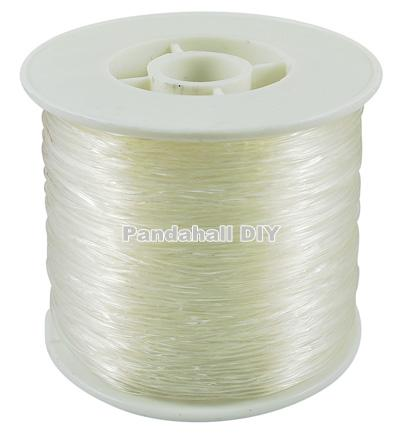 5Rolls Transparent Elastic Fibre Wire Clear for DIY Jewelry Making Wire: 1.0mm thick, 100m/roll(China (Mainland))