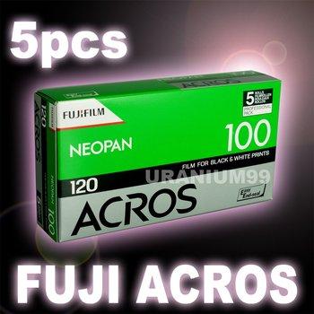 Fuji Fujifilm Neopan Arcos ISO100 120 B&W ( Black & White ) Negative Camera Film ( 5 Rolls )