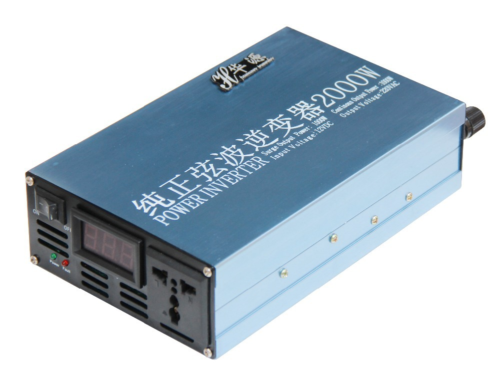 LED display Solar Power inverter 1000W DC 12V/24V to AC 220V Power Inverter Charger Converter(China (Mainland))