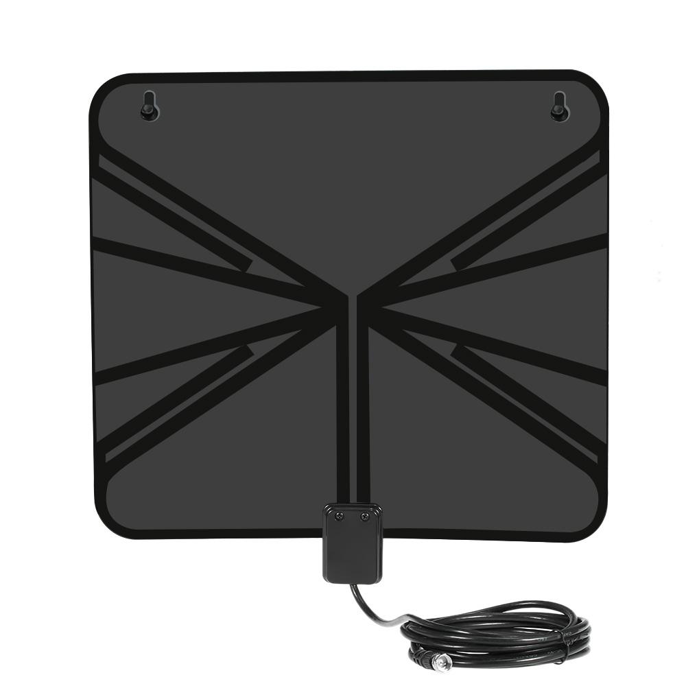 LAN-1040 Amplified HDTV Antenna Indoor Digital TV Antenna 50 Mile Range w/ Power Supply Amplifier for HDTV F Connector US Plug(China (Mainland))