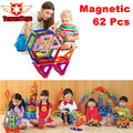 62Pcs Lot Magnetic Designer Building Blocks 3D DIY Plastic Creative Models Bricks Learning Educational Toy Animal