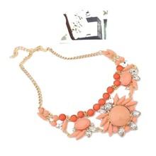 Women's Fashion Retro Ethnic Style Rhinestone Necklace Choker Crystal Bubble Irregular Flowers Pendants Chain(China (Mainland))