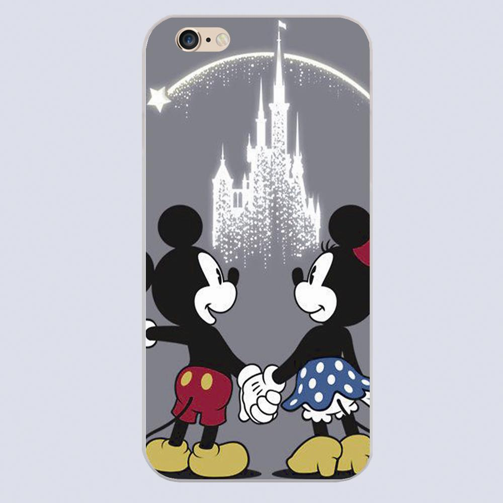 Luxury For Mickey Minnie mouse cartoon Design black skin case cover cell phone cases for iphone 4 4s 5 5c 5s 6 6s 6plus hard(China (Mainland))