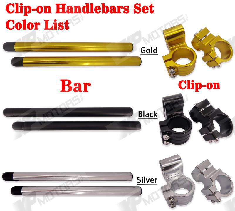 "High Quality Motorcycle CNC Billet 1"" Raised Riser 46mm Clip-On Handlebar For Kawasaki ZRX1100 1999 2000"