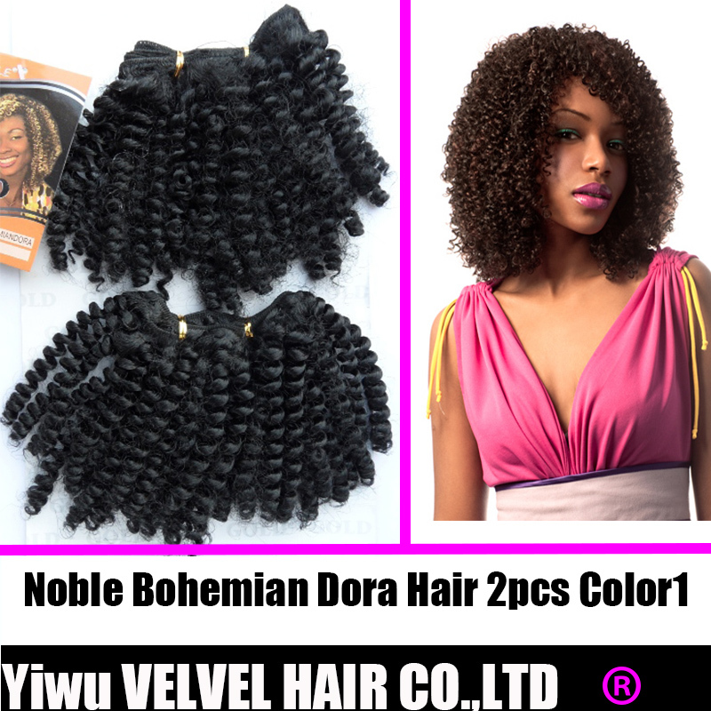 1PC+Free Shipping Noble Gold Dora Synthetic Hair Extension Afro Curl 8 Color1 2pc Premium Synthetic Afro Curly Short Weave Hair<br><br>Aliexpress