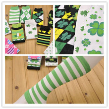 Free shipping/wholesale hot sale! St Patrick's day Lucky clover leg warmer for baby 10pairs/lot(China (Mainland))