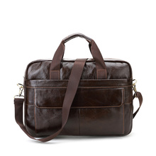 CROSS OX Genuine Leather Mens Briefcase Laptop Bags Men's Travel Bag Cowhide Men Shoulder Bags Business Man Handbag bolsa HB388F(China (Mainland))