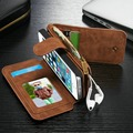 2016 Retro Folded Wallet Case for iPhone On 5 5s SE 2 in 1 Second Layer