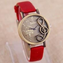 2015 Dream Music Quartz Watch Women Fashion Genuine Leather Casual Wristwatch Girl Analog Vintage Headset Romantic Elegant Clock(China (Mainland))