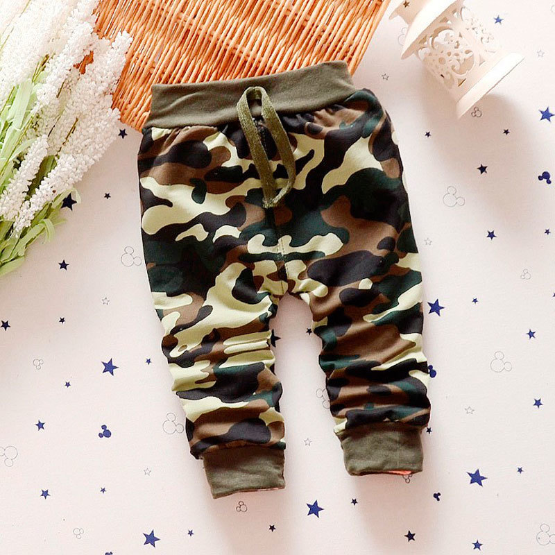 2016 Baby Infant Boy Camouflage Pants Trousers 100% Cotton Children's Clothing Boys Fashion Kids Clothes 0-4Y  -  MJ store store