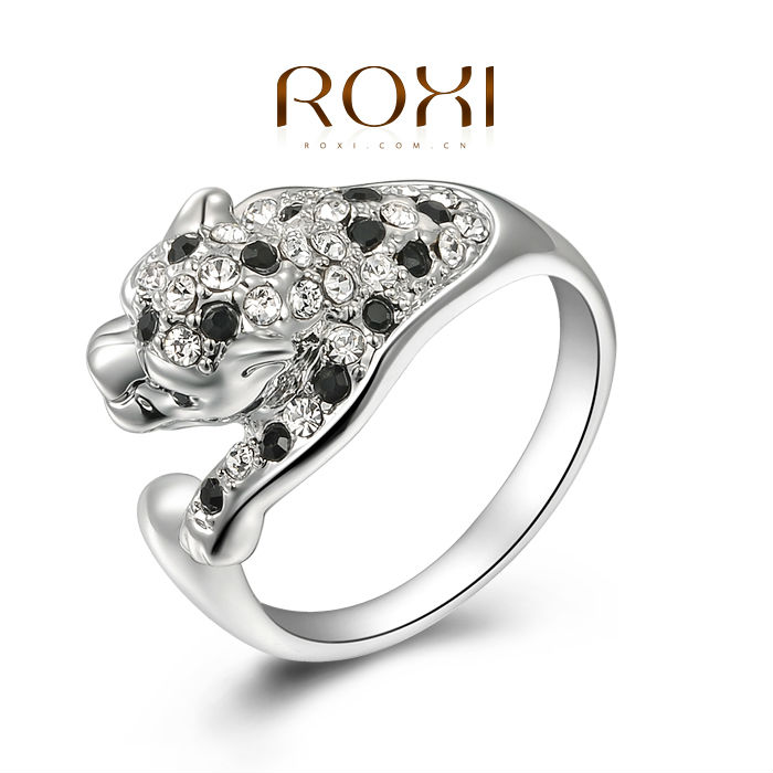 ROXI Gift Leopard Rings Top Quality Make with Genuine SWR Crystal, 100% Hand Made Fashion Jewelry,2010007350(China (Mainland))