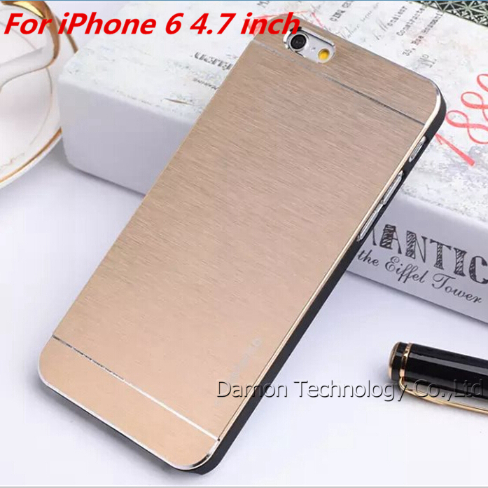 Ultra Thin Aluminum Case iPhone 6 4.7 Brushed Metal Hard Back Cell Phones case iPhone6 Mobile Phone Cases Bag Cover - Damon Trading (HK store Co.,Ltd)