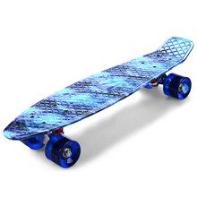 CL-94 22 Inch Blue Starry Sky Pattern Retro Skateboard Complete Dragon Longboard Sport Skate Board Four-Wheel Street Skateboard(China (Mainland))