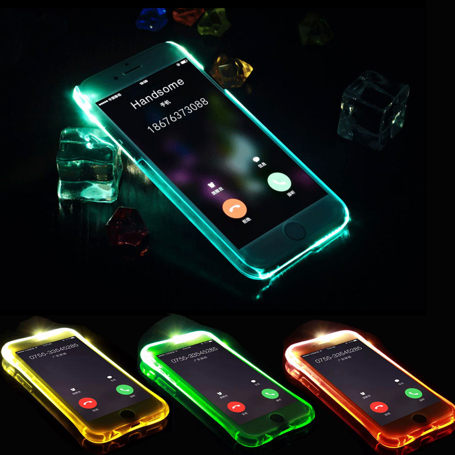 Samsung S6 edge S7 Case iPhone Samsung Galaxy Grand Prime J5 J7 2015 2016 2017 LED Flash Remind Incoming Call Cover