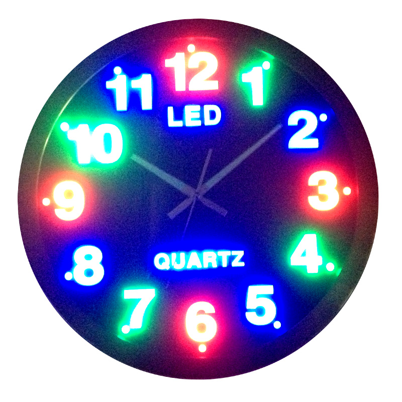 Led wall clock bing images Digital led wall clock