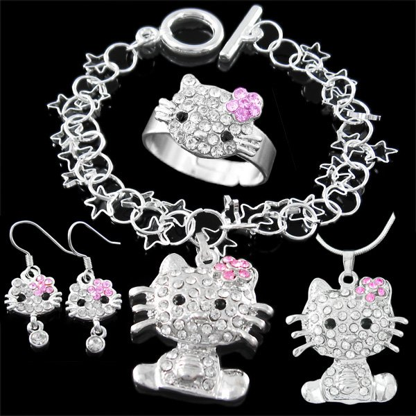 Wedding rings with engraved Hello kitty wedding rings for sale
