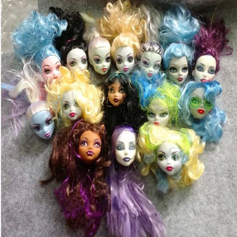 5pcs/lot New Arrival Fashion Genuine Girls Doll Accessories Ugly Heads For Monster High Dolls(China (Mainland))