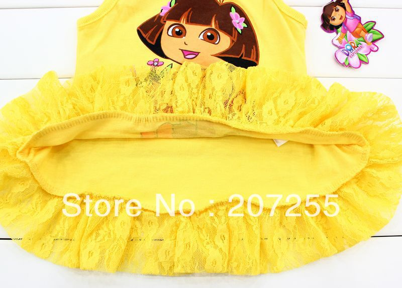 Yellow Tops For Girls Girls Dora Yellow Vest Top