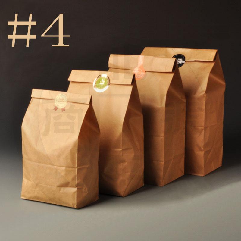 127*77*240mm 100pcs Hengxin Bread Sandwish Food Kraft Paper Bags Packaging For Cookies Bolsas De Papel Shopping Bag Embalagem(China (Mainland))