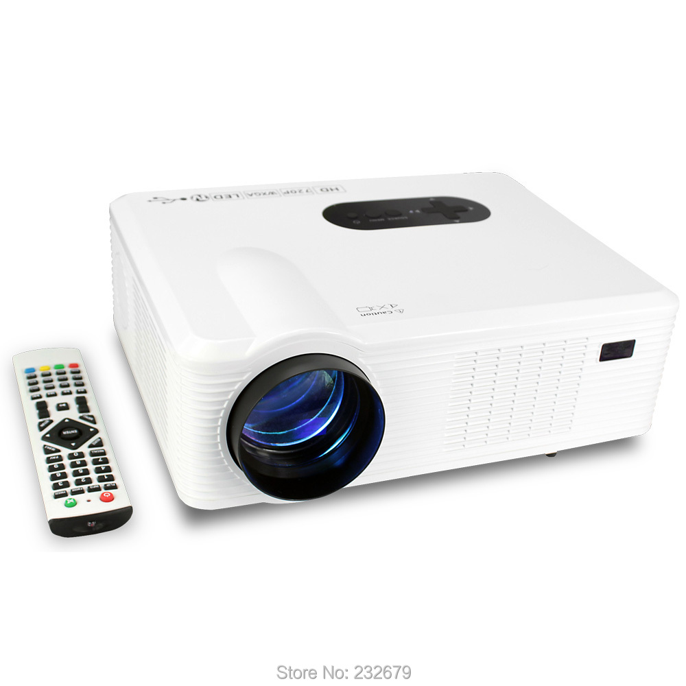 Cl720 portable led tv projector digital projector with for Portable projector reviews