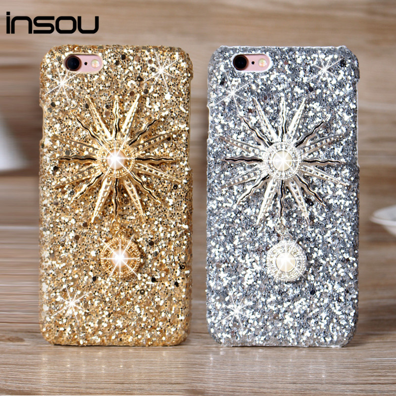 i6/6 Plus Phone Cases,Rhinestone Sparkling back Cover case For Apple iphone 6 case 4.7''/6 Plus 5.5' Shinning Hard Cover Case(China (Mainland))