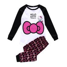 Buy Hello Kitty Children Pajama Sets Long Sleeve Cartoon Baby Girls Pajamas Cotton Minnie Mouse Pijamas Kids Boys Sleepwear Pyjama for $5.70 in AliExpress store