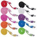 Hot Sale 1m 2m 3m Noodle Micro USB Data Sync Charger Micro USB Cable for Samsung