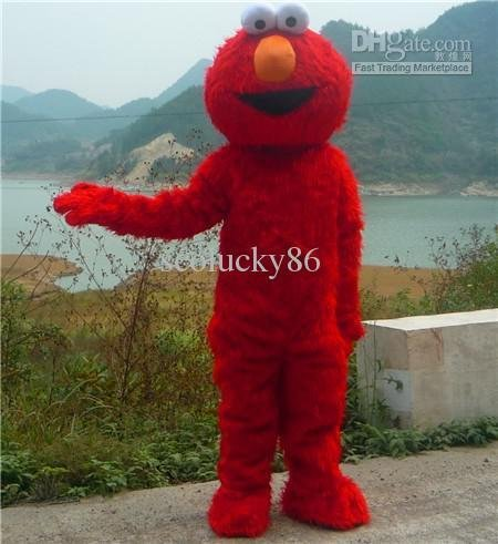 Complete OUTFIT Sesame Street Elmo Monster Plush Cartoon Mascot Costume Adult size