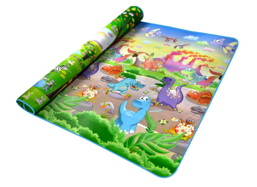 Baby Play mat child 2*1.8 Meter Fruit Letters Happy Farm Child Beach Mat Picnic Carpet Crawling baby games - The only design studio store